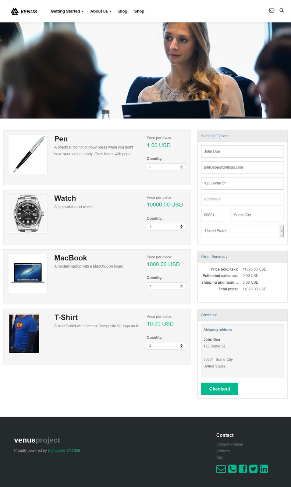 Интернет-магазин на Composite C1 CMS с помощью SnapShop
