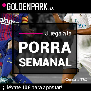 Resultado Porra Goldenpark 10 euros Sporting Lisboa 0-1 Barcelona 27 septiembre