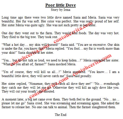 Contoh Cerita dalam Bahasa Inggris untuk Anak SD
