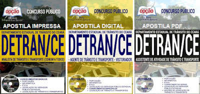 apostila concurso Detran-CE - Departamento Estadual de Trânsito / CE.