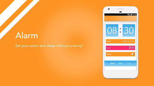 Android app UI and UX : bud Alarm