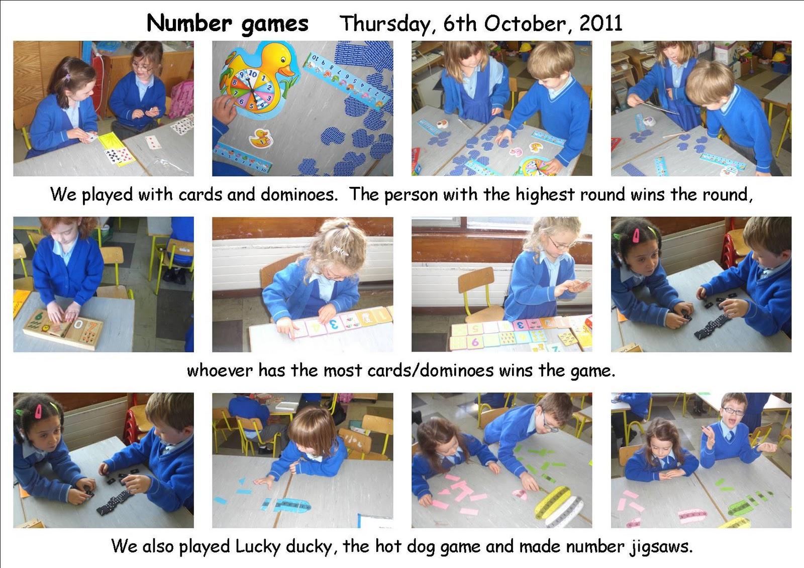 Maths Page Number Games In Senior Infants