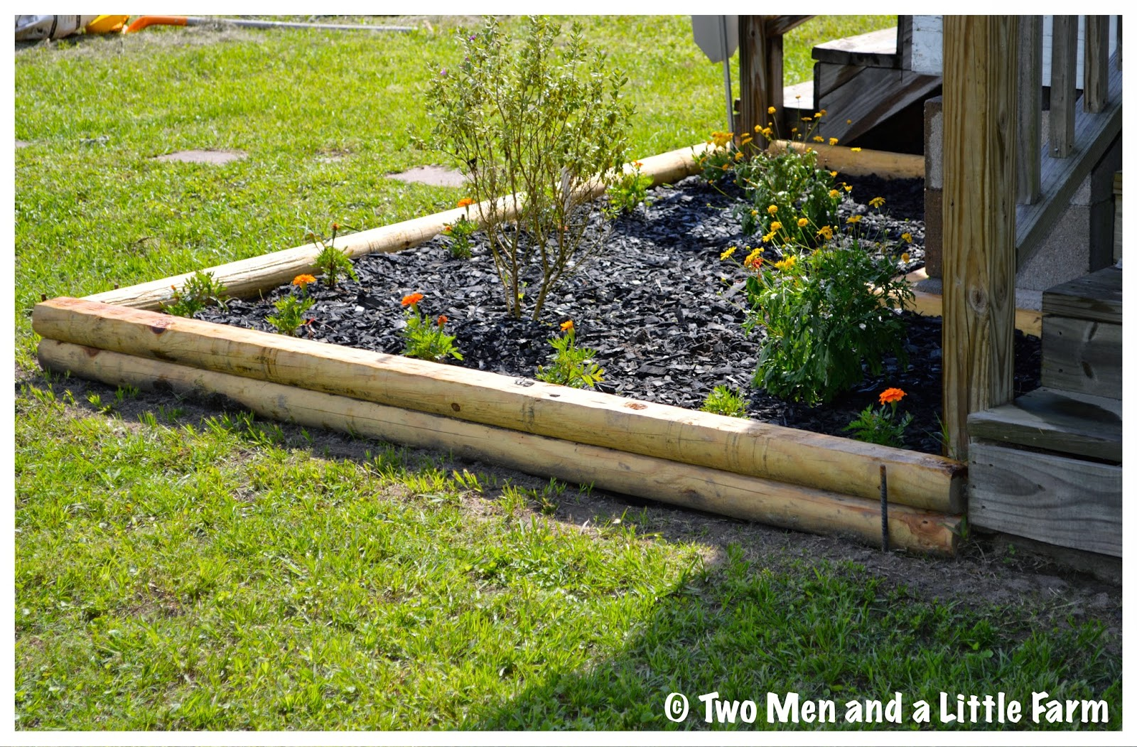 Two Men And A Little Farm CORNER BED LANDSCAPING