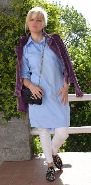 outfit abito chemisier come abbinare un abito chemisier abito camicia vestito camicia outfit primaverile mariafelicia magno fashion blogger colorblock by felym fashion blogger italiane