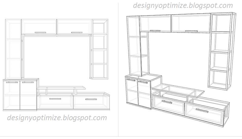 Dise o de muebles madera mueble para tv pantalla plana grande centro de entretenimiento - Muebles para televisores pantalla plana ...