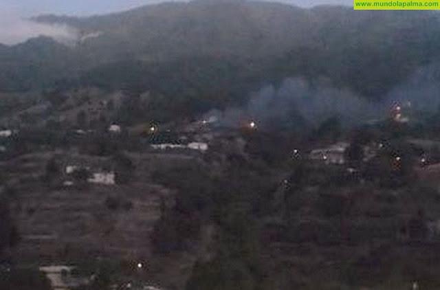 Un pajero ardió esta mañana en el barranco de Juan Mayor