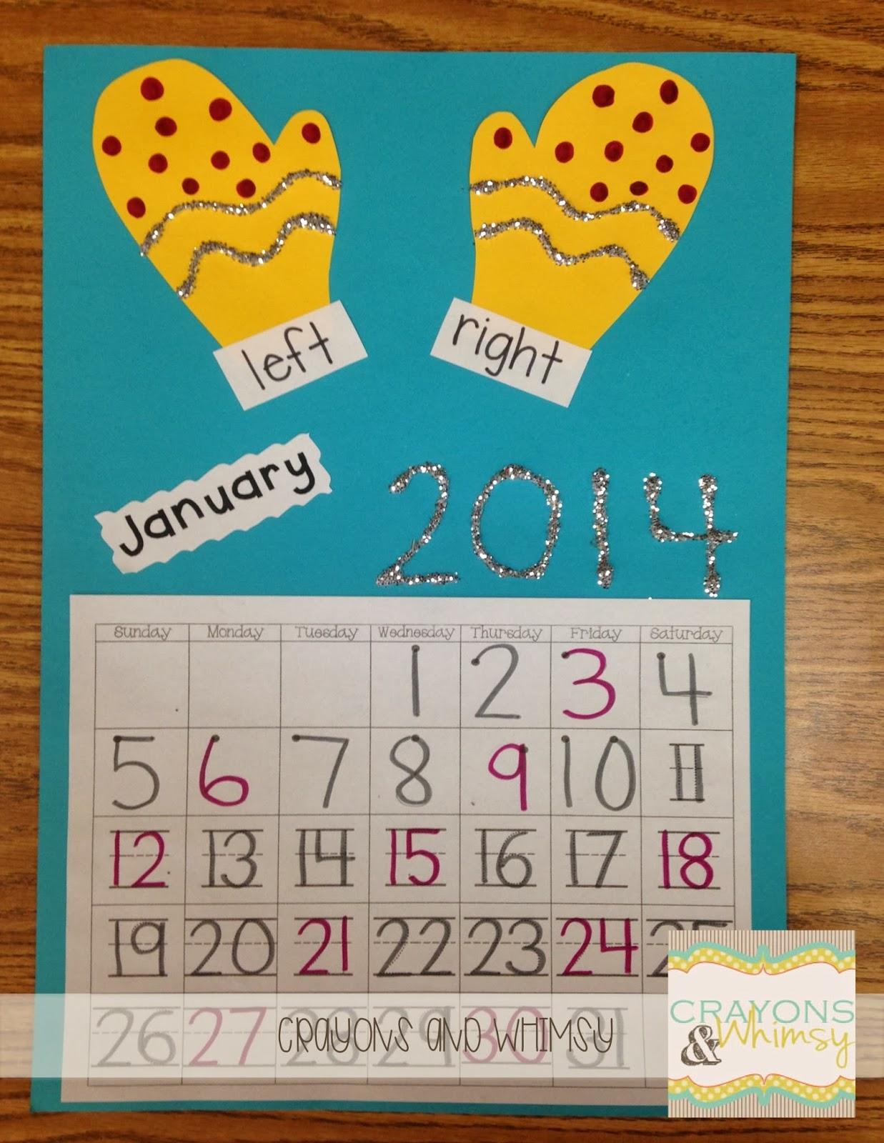 January Calendar Time Freebie