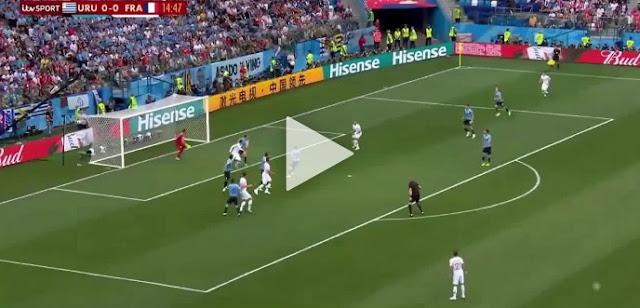 Cuplikan Gol : Uruguay 0-2 Perancis (World Cup 2018)