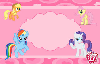 Para hacer invitaciones, tarjetas, marcos de fotos o etiquetas, para imprimir gratis de My Little Pony.
