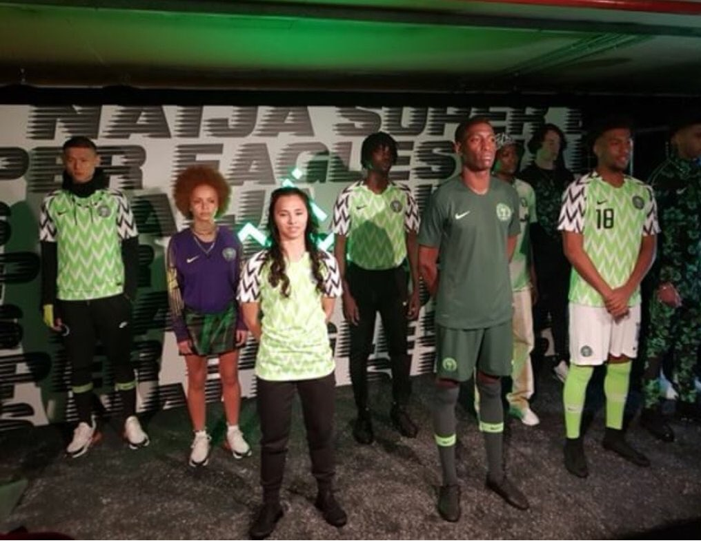 ad0d589395b Nike Unveils New Jersey For The Super Eagles For World Cup 2018 ...