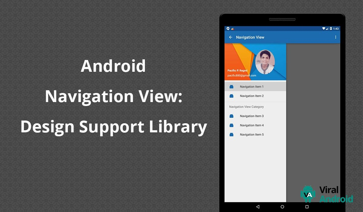 Android Navigation Drawer View: Material Design Support Library
