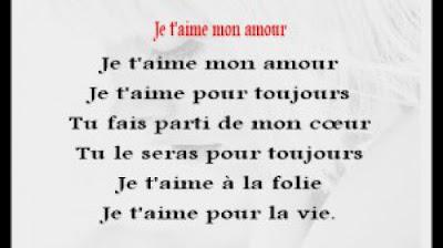 Petit poeme d'amour et phrase d'amour