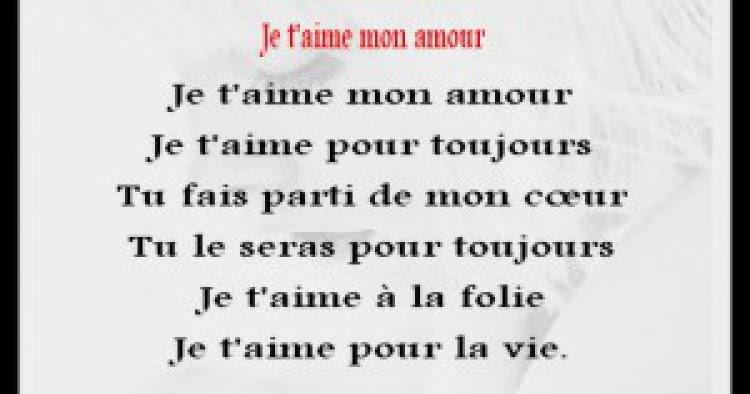 Petit Poeme Damour Et Phrase Damour Mots Damour Poème