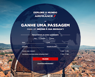 Promoção Explore o Mundo Airfrance