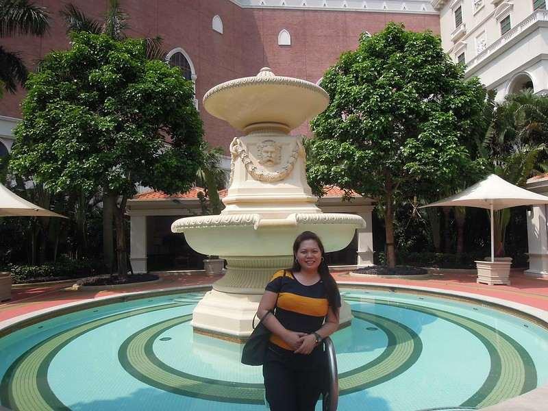 Fountain at The Venetian Macao Resort Hotel