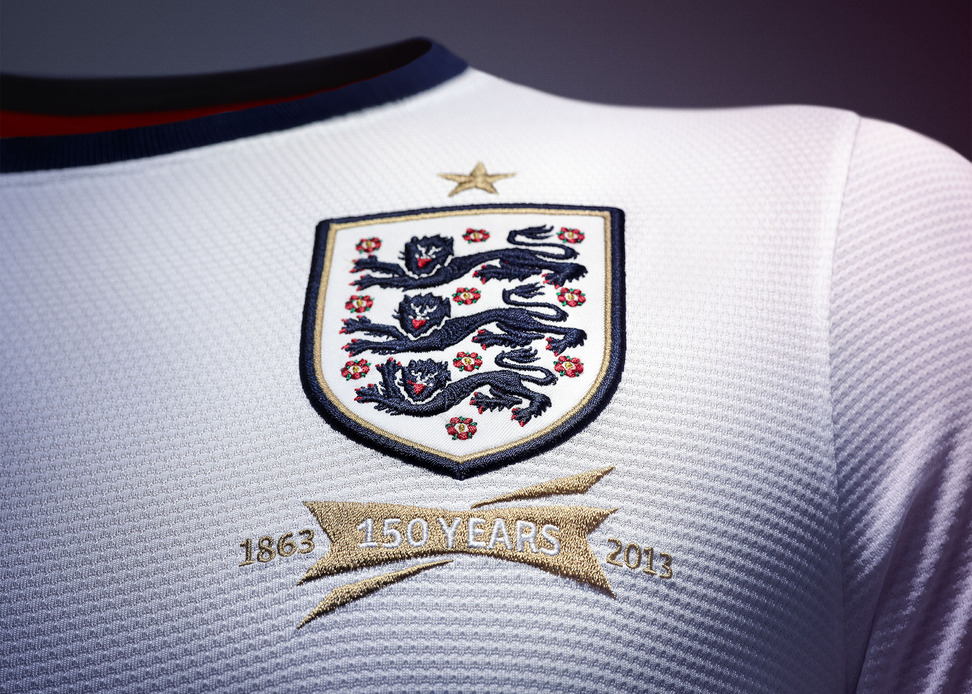 The blue on the new kit is the same dark blue colour that featured on  England s first kit. Embodying the clean lines and understated style of the  best of ... 20d4f9e0e