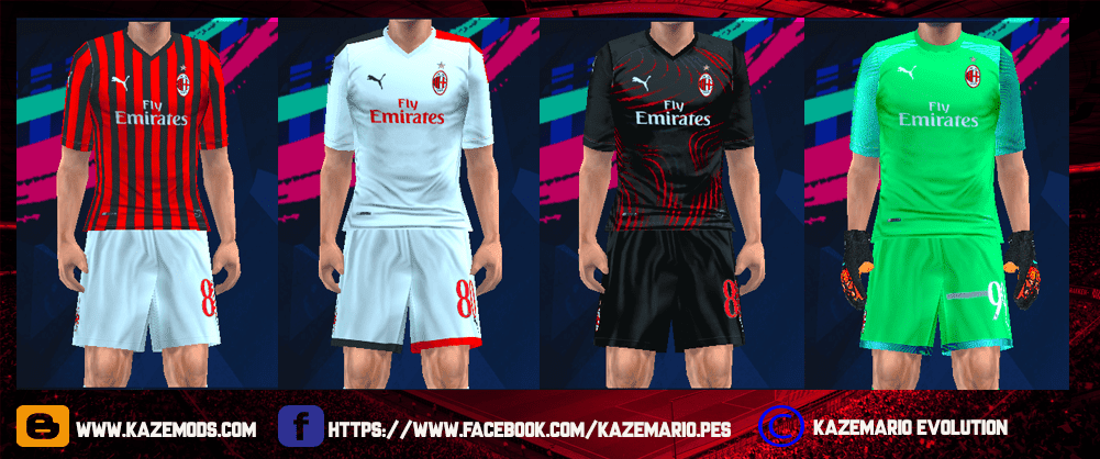 AC Milan Leaked Kits 2019/20 For PES PSP (PPSSPP) | Araujodowns