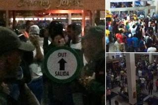 """""""Ya salimos (…) Estuvimos cuatro horas sitiados por bandas armadas del gobierno"""", dijo Capriles en un video que difundió en la red social Periscope."""