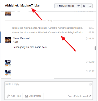 [Proof] How To Hide Your Friend's Name on Facebook / Set Nick Name For Your Friends On Messanger