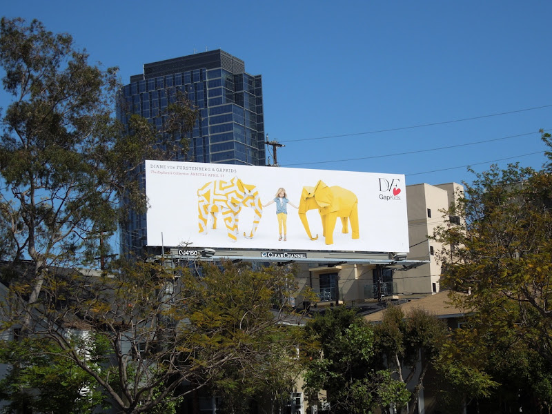 DVF Gap Kids Elephants billboard