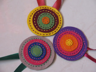 Satin ribbon felt cloth bookmarks
