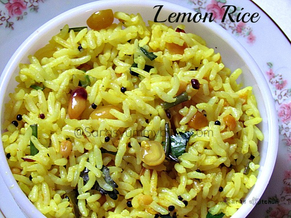 Lemon Rice / South Indian Lemon Rice