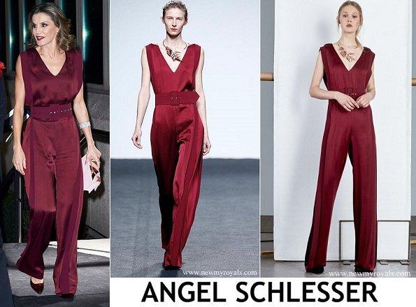Letizia wears Delpozo dress, Angel Schlesser jumpsuit, Hugo Boss and Carolina Herrera, Spanish brands Zara and Mango