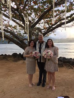 Larry LaSota at St. Regis with same sex couple Kauai Weddings