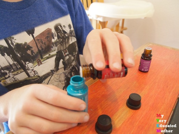 Father's Day Gift Idea DIY Beard Oil The kids picked out the scents.