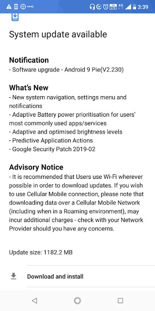 Nokia 3.1 Plus receiving Android Pie update