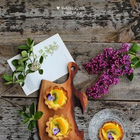 Bezglutenowe tartaletki z kremem i owocami