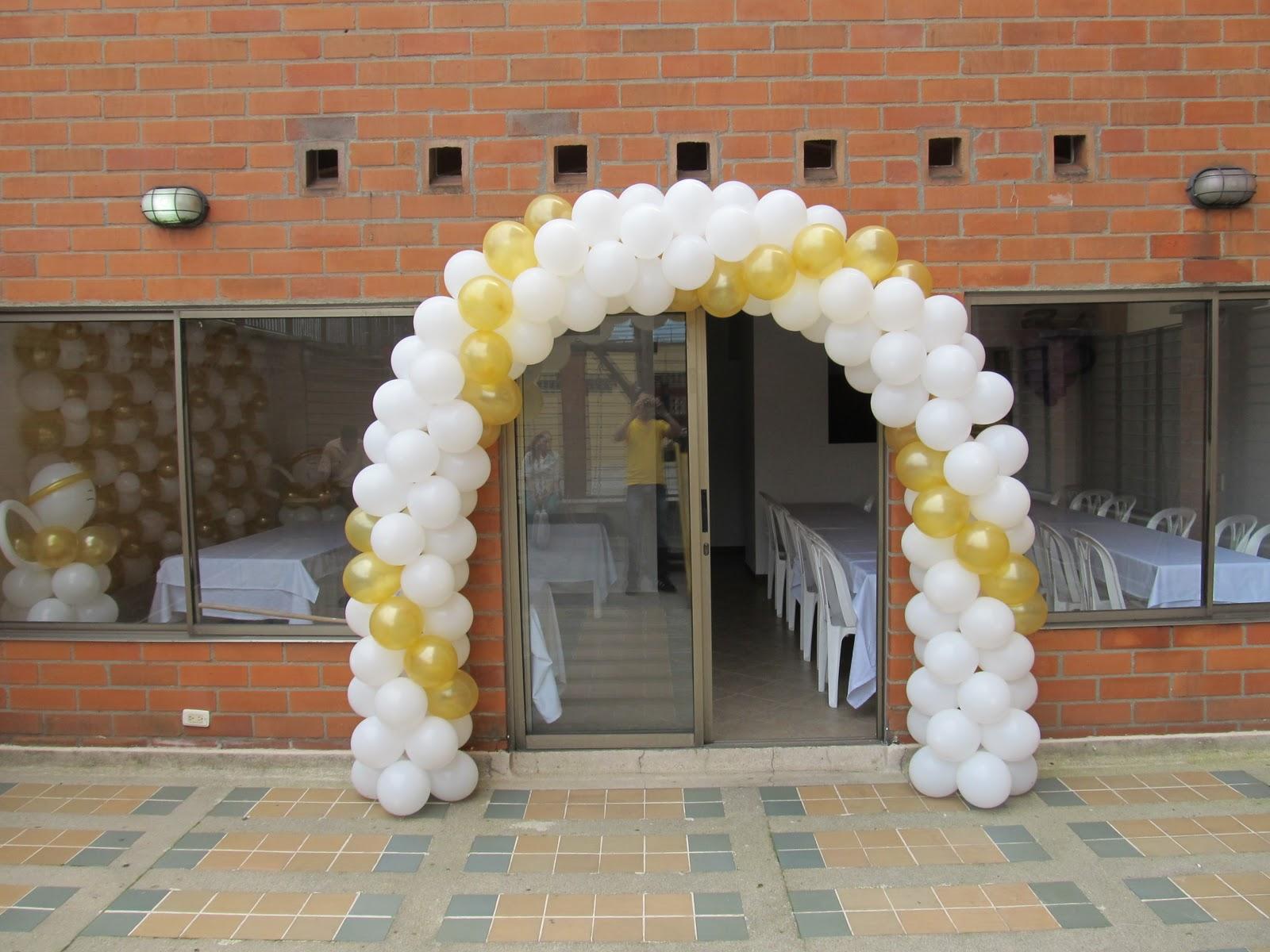 Decoracion con globos para primera comunion y - Globos fiestas infantiles ...