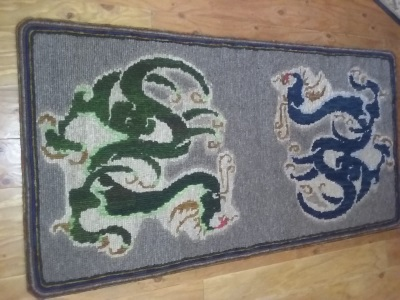 Dragon Locker Hooked Rug