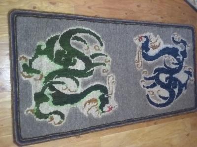 Dragon Locker Hooked Rug
