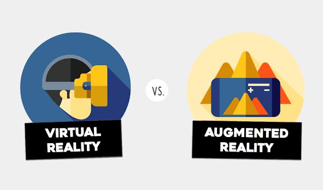 perbedaan antara Virtual Reality dan juga Augmented Reality. Perbedaan tersebut terdapat pada konsep lingkungan yang digunakan. Untuk teknologi Augmented Reality memakai lingkungan dunia nyata namun objeknya virtual. Sementara itu, teknologi Virtual Reality menggunakan lingkungan virtual yang disimulasikan oleh komputer.