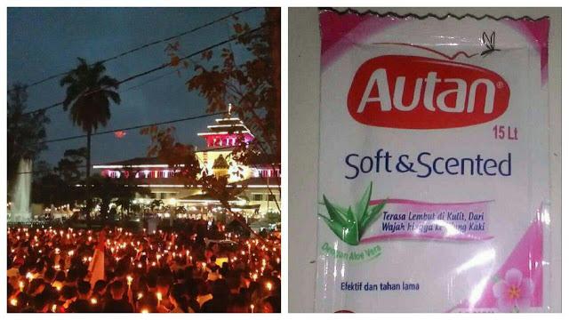Kocak! Jawara Bandung Dukung Ahok Dibui dan Bagi-Bagi AUTAN Ke Ahoker Aksi Lilin