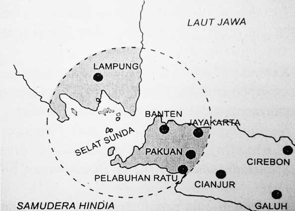 Map of Banten's Kingdom territory