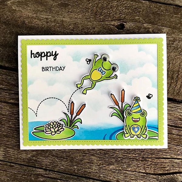 Sunny Studio Stamps: Froggy Friends Customer Card Share by Lynn Hayes