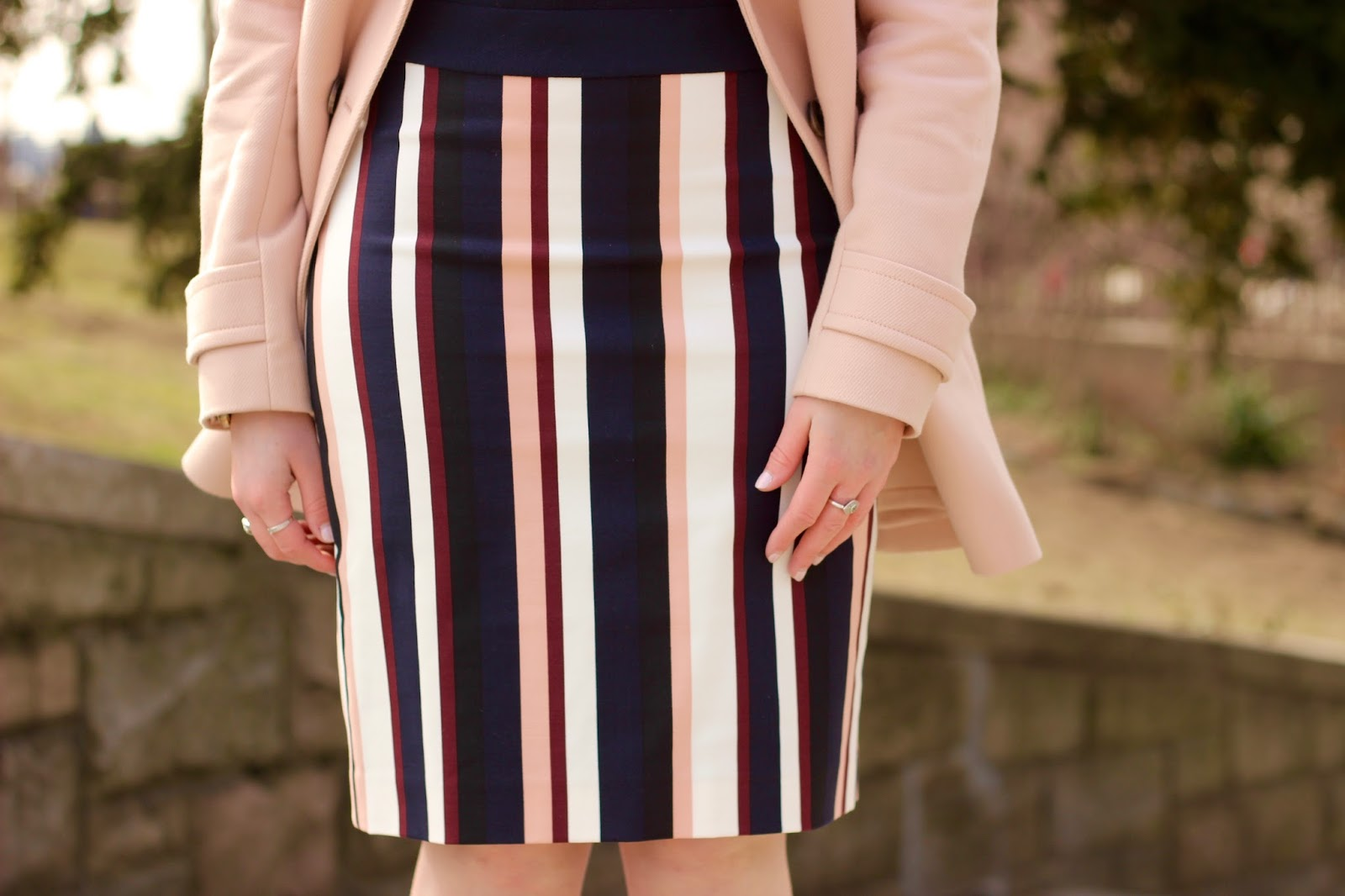 vertical striped skirt ann taylor