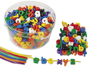 alphabet beads, Lakeshore Learning