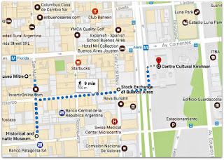 Bancos e Museus de San Nícolas - Mapa do Google Maps