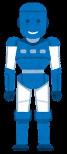 人型ロボットのイラスト(青)