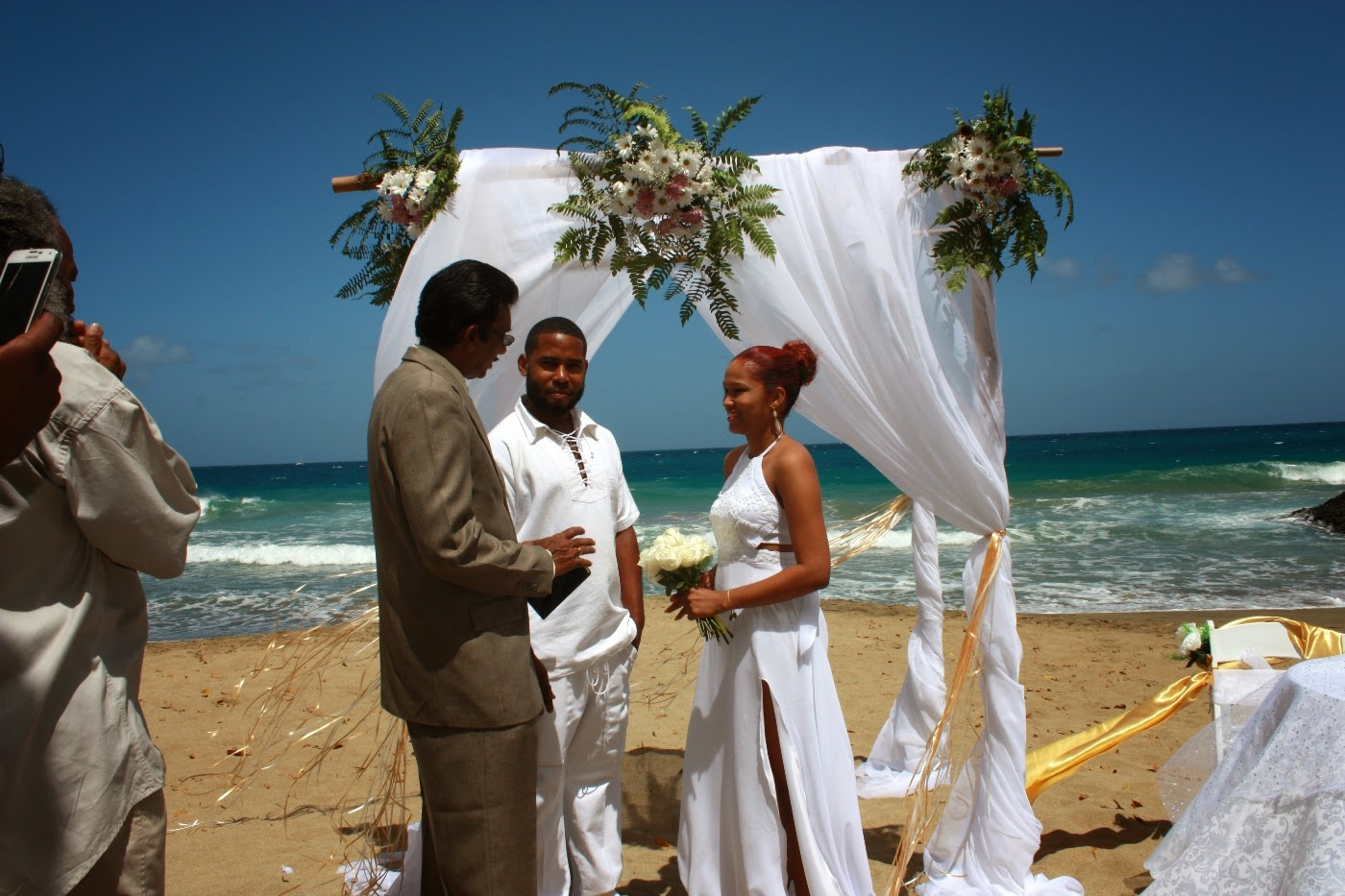 Real Destination Weddings: Morning Beach Wedding In Tobago