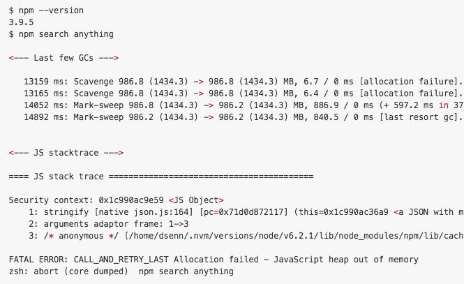 Banana js: node js, npm, error, build, problem, Allocation failed