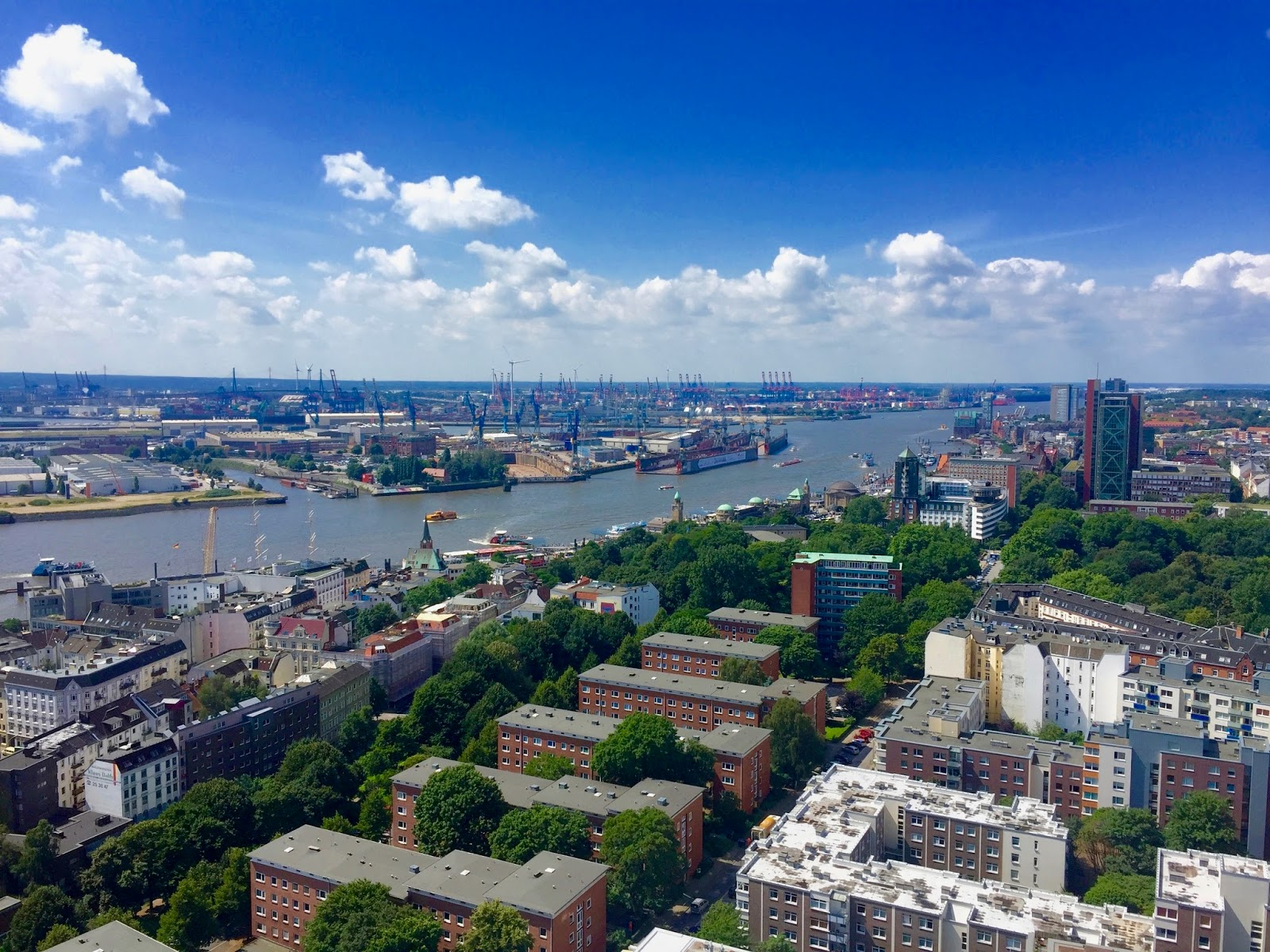 View from Michaelis Church Hamburg