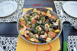 paella on a family table