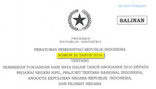 PP Peraturan Pemerintah Tentang GAJI 13 GAJI 14 2016