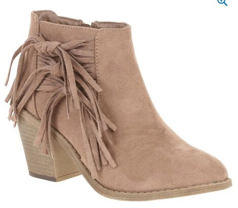 Walmart Faded Glory Women's Fringe Heel Boot