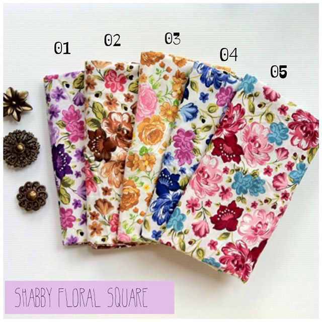 Shabby Floral Square