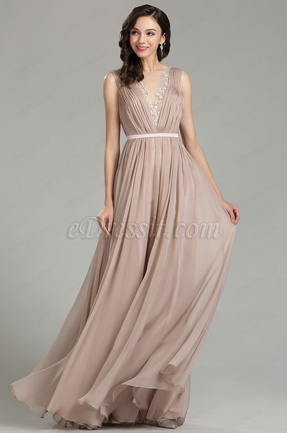 eDressit Pretty Blush Long Fashion Designer Dress